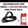 Kép 1/7 - LEDLENSER H7R Core tölthető fejlámpa 1000lm Li-ion + AJÁNDÉK  RELOAD 10 Ah POWER BANK