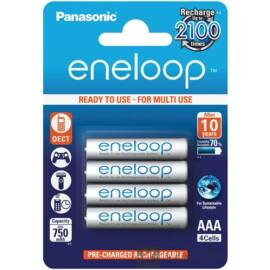 Panasonic Eneloop AAA 750mAh Ni-MH TÖLTHETŐ akkumulátor 4db/ csomag