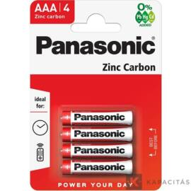 Panasonic Red Zinc AAA 1.5V  elem 4db/csomag R03R