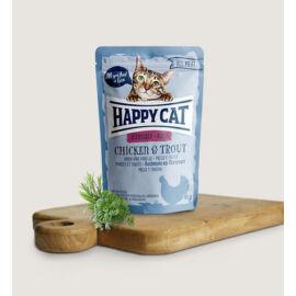 Happy Cat   Adult   Csirke és Pisztráng szószban (24x85 g)  2.04 kg