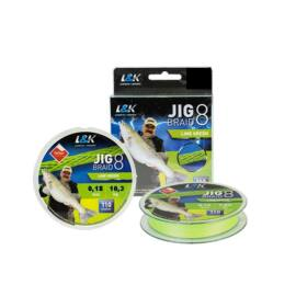 ZSINÓR L&K JIG BRAID 0,18MM 10.3 KG 110M LIME GREEN