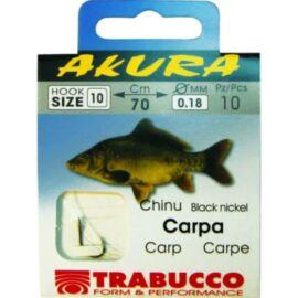 Trabucco AKURA CARP  LIBR. 06X0,25, előkötött horog
