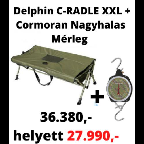 Delphin C-RADLE XXL pontybölcső 120cm + Cormoran Nagyhalas Mérleg
