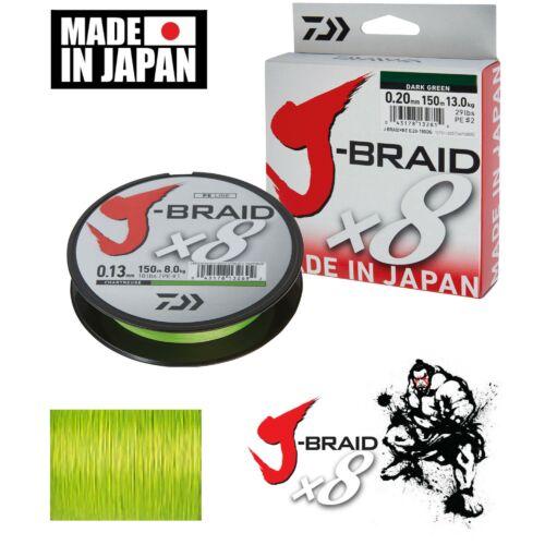 Daiwa J-Braid Chartreuse 0,13 mm  150m