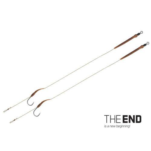 Delphin THE END Boilie rig kötött horog / 2db 20cm/25lbs/#2
