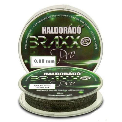 Haldorádó Braxx Pro - Fonott feeder előkezsinór 0,08mm / 10m - 4,32kg