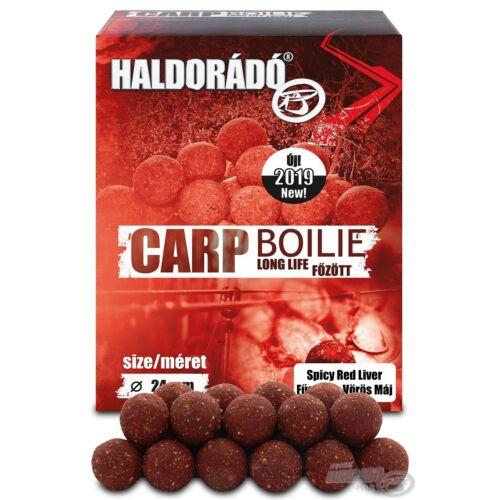 Haldorádó Carp Boilie Long Life 24 mm - Fűszeres Vörös Máj