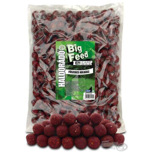 Haldorádó Big Feed - C21 Boilie - Fűszeres Kolbász 2,5 kg