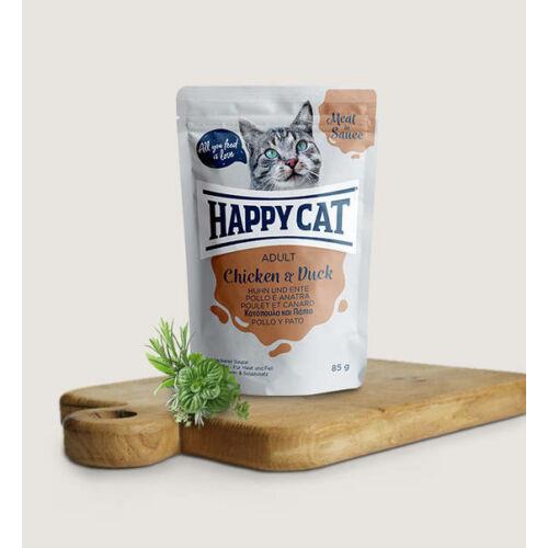 Happy Cat   Adult  Csirke & Kacsa  szószban  ( 24x85g)  2.04 kg