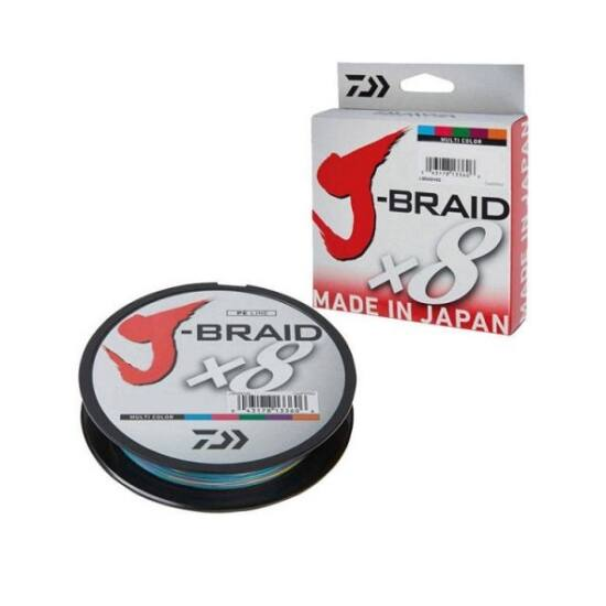 Daiwa J-Braid X8 0.13mm-300m multi color
