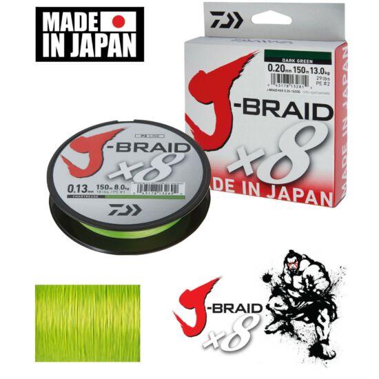 Daiwa J-Braid Chartreuse 0,16 mm  150m
