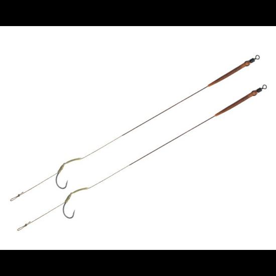 Delphin THE END Skin rig kötött horog / 2db    20cm/25lbs/#6
