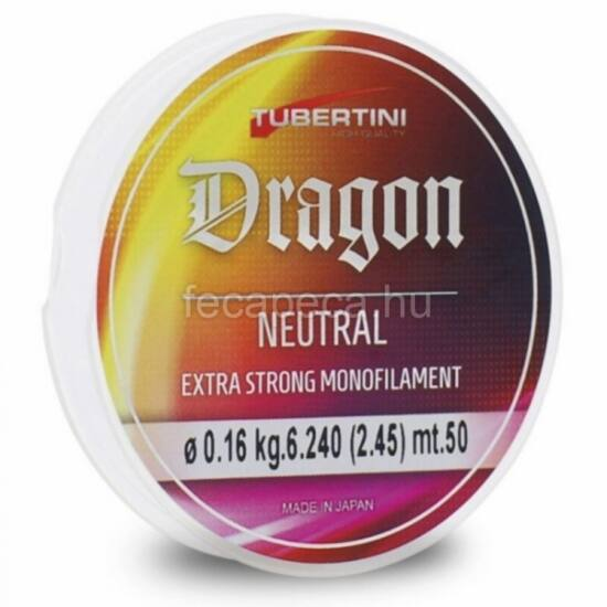 TUBERTINI DRAGON NEUTRAL 0,16 50 MÉTER előkezsinór