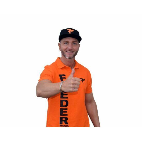 FEEDERMANIA 3D Galléros póló Orange-Black L-XXL
