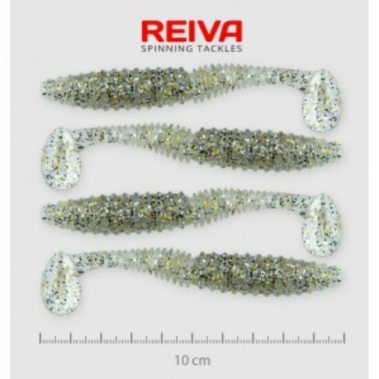 Reiva Zander Power Shad 10cm 4db/cs /Ezüst-Flitter/ (9901-107)